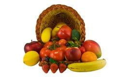 Frutta in corno di abbondanza Immagini Stock