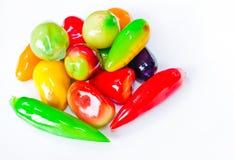 Frutta dei dolciumi su priorità bassa bianca Fotografia Stock Libera da Diritti