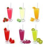 Frutta dei frullati Immagini Stock