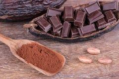 Frutta del cacao fotografia stock