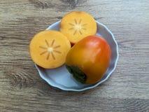 Frutta del cachi Fotografia Stock