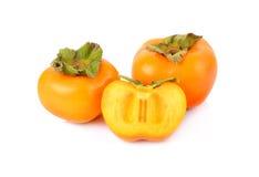 Frutta del cachi isolata su fondo bianco Fotografia Stock