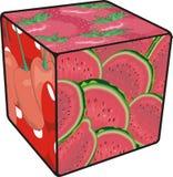 Frutta del cubo Fotografia Stock