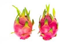Frutta del drago di vista superiore isolata su fondo bianco fotografia stock libera da diritti