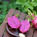 Frutta del drago, frutti tropicali, agricoltura del Vietnam Fotografia Stock Libera da Diritti
