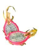 Frutta del drago isolata su bianco fotografie stock
