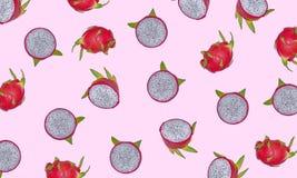 Frutta del drago isolata su fondo bianco illustrazione vettoriale