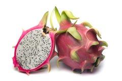 Frutta del drago su priorità bassa bianca Fotografia Stock