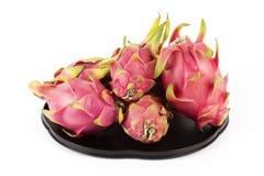 Frutta del drago sul vassoio Fotografia Stock