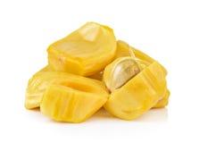 Frutta del Jack su priorità bassa bianca Immagini Stock Libere da Diritti