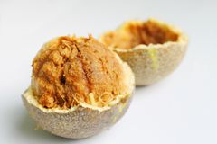 Frutta del limonia acidissima, mela di legno Fotografie Stock
