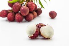 Frutta del litchi. Fotografia Stock