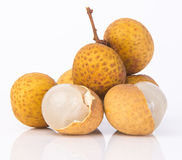 Frutta del Longan su un fondo Fotografia Stock