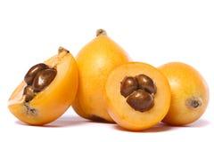 Frutta del Loquat Fotografia Stock