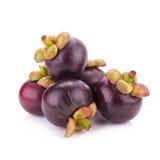 Frutta del mangostano isolata su bianco Immagine Stock Libera da Diritti