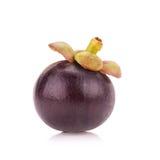 Frutta del mangostano isolata su bianco Fotografia Stock