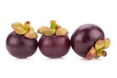 frutta del mangostano su bianco Fotografie Stock