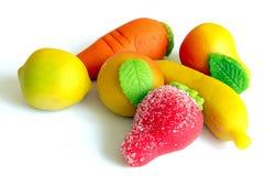 Frutta del marzapane fotografie stock