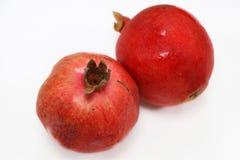Frutta del melograno isolata con fondo bianco fotografia stock
