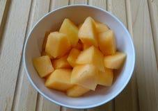 Frutta del melone del cantalupo fotografia stock libera da diritti