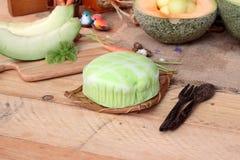 Frutta del melone del cantalupo succosa e dolce del melone Fotografie Stock