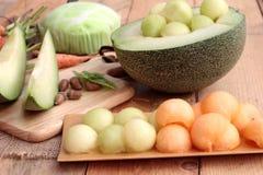 Frutta del melone del cantalupo succosa e dolce del melone Immagine Stock Libera da Diritti