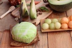 Frutta del melone del cantalupo succosa e dolce del melone Fotografia Stock Libera da Diritti