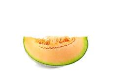 Frutta del melone delle fette isolata sui precedenti bianchi Fotografia Stock Libera da Diritti