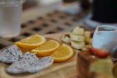 Frutta del pane tostato del miele Fotografia Stock Libera da Diritti
