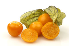 Frutta del Physalis (peruviana del Physalis) Fotografia Stock