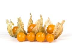 Frutta del Physalis su bianco Fotografia Stock