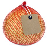 Frutta del pomelo nel pacchetto del reticolato isolato su bianco Fotografia Stock