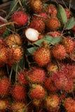 Frutta del Rambutan al mercato in Tailandia Immagini Stock Libere da Diritti