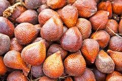 Frutta del serpente sul mercato in Java fotografia stock