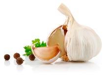 Frutta dell'aglio con la spezia del prezzemolo Immagine Stock