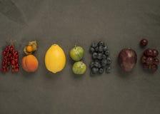 Frutta dell'arcobaleno sull'ardesia Fotografie Stock