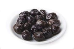 Frutta dell'oliva nera Fotografie Stock