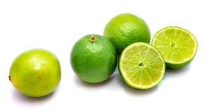 Frutta della calce isolata su bianco Fotografie Stock