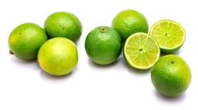 Frutta della calce isolata su bianco Immagini Stock Libere da Diritti