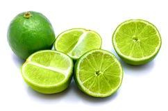 Frutta della calce isolata su bianco Fotografia Stock Libera da Diritti