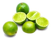 Frutta della calce isolata su bianco Fotografia Stock