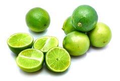 Frutta della calce isolata su bianco Fotografie Stock Libere da Diritti