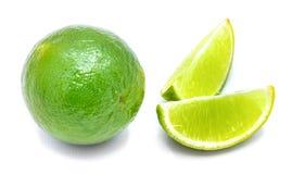 Frutta della calce isolata su bianco Immagini Stock