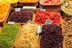 Frutta della caramella e secco Fotografia Stock Libera da Diritti