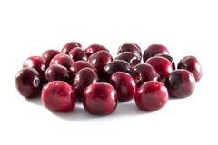 Frutta della ciliegia con i fogli Fotografia Stock Libera da Diritti