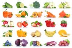 Frutta della frutta e ber dell'arancia della mela della raccolta delle verdure Fotografia Stock Libera da Diritti