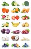 Frutta della frutta e berr del limone della mela della raccolta delle verdure Fotografia Stock Libera da Diritti