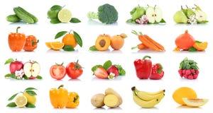 Frutta della frutta e pisello dell'arancia della mela della raccolta delle verdure Fotografia Stock Libera da Diritti