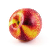 Frutta della nettarina isolata su fondo bianco Fotografia Stock