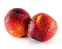 Frutta della nettarina isolata su fondo bianco Fotografia Stock Libera da Diritti